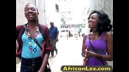African babes having wild lesbian sex in the bathroom