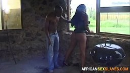 Beautiful Black Teen Spanked and Branded by Her Master