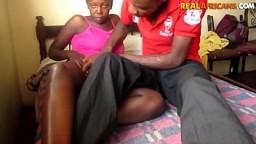 BBC fucking slippery lubed up ebony pussy