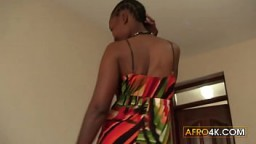 African Amateur Screaming During First Anal Experience