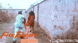 TRAILER : SEXY beautiful african naija girl with thick ass gets fucked by a good samaritan big black cock