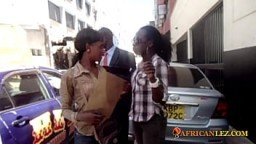 Real Ugandan amateur lesbians having sneaky shower sex