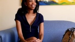 Beautiful Black Model Gets Facial on Casting Couch