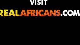 African slut fucking BBC in shower