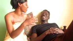 Ebony Teen Blowing Big Dick