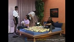 2 Swinger Couples Interracial Group Sex (Anal)