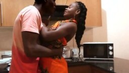 Afro Cutie Pounded in Living Room By Black Dick