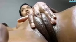 Horny Girl Fingering Her Fat Pussy